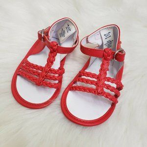 Janie and Jack Girls Sandals 18-24 Months Red